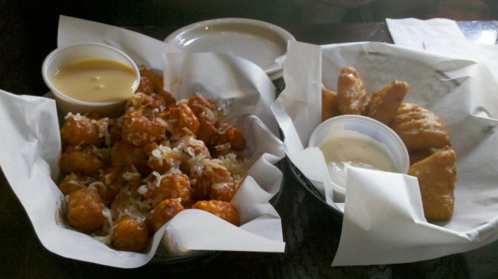 Monster Tots and Deep Fried Mac and Cheese @ Schoolyard Tavern